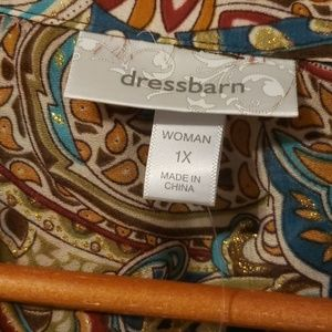 Dress Barn Tops - Dress Barn button front blouse Paisley size 1X NWT